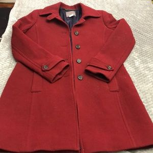 Red coat. Size 12 Tall. Worn once.